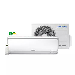 Ar Condicionado Split Samsung Digital Inverter Wind Free 9.000 BTU/h Frio AR09MVPXAWKNAZ